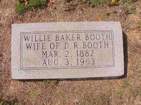 BAKER BOOTH, WILLIE - Columbia County, Arkansas | WILLIE BAKER BOOTH - Arkansas Gravestone Photos