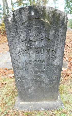 BOYD, F N - Columbia County, Arkansas | F N BOYD - Arkansas Gravestone Photos