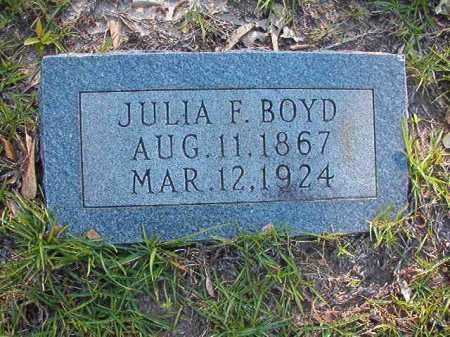 BOYD, JULIA F - Columbia County, Arkansas | JULIA F BOYD - Arkansas Gravestone Photos