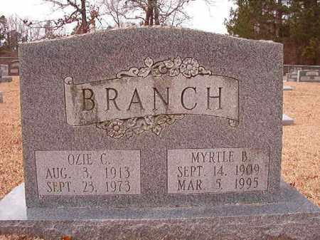 BRANCH, OZIE C - Columbia County, Arkansas | OZIE C BRANCH - Arkansas Gravestone Photos