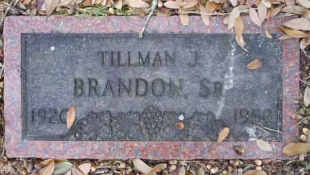 BRANDON SR, TILLMAN J - Columbia County, Arkansas | TILLMAN J BRANDON SR - Arkansas Gravestone Photos