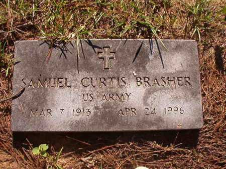 BRASHER (VETERAN), SAMUEL CURTIS - Columbia County, Arkansas | SAMUEL CURTIS BRASHER (VETERAN) - Arkansas Gravestone Photos