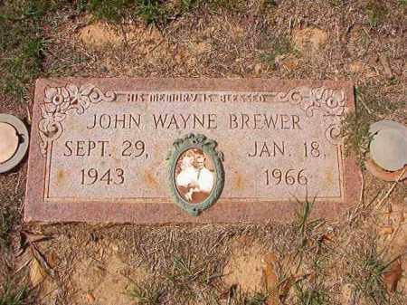 BREWER, JOHN WAYNE - Columbia County, Arkansas | JOHN WAYNE BREWER - Arkansas Gravestone Photos