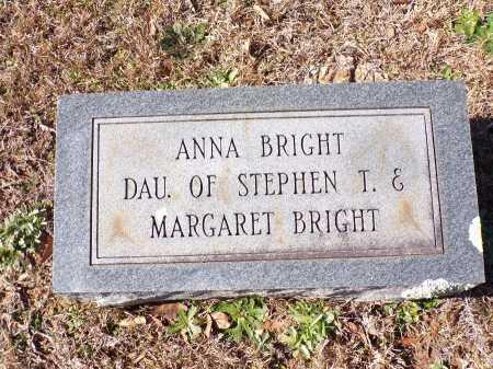 BRIGHT, ANNA - Columbia County, Arkansas   ANNA BRIGHT - Arkansas Gravestone Photos