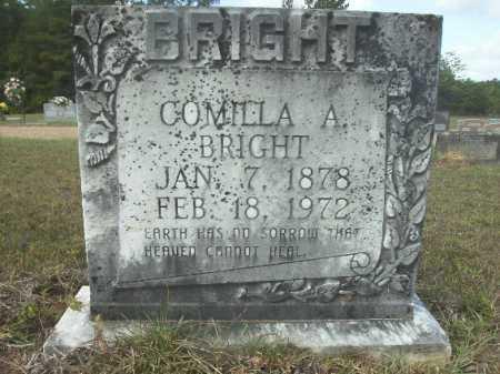 BRIGHT, COMILLA A - Columbia County, Arkansas | COMILLA A BRIGHT - Arkansas Gravestone Photos