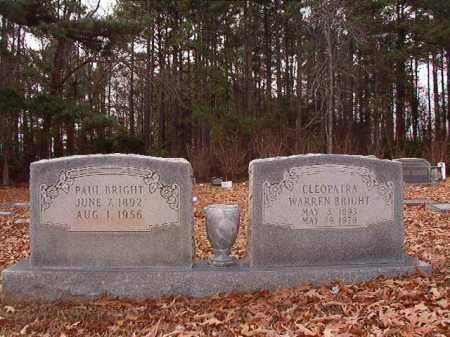 WARREN BRIGHT, CLEOPATRA - Columbia County, Arkansas | CLEOPATRA WARREN BRIGHT - Arkansas Gravestone Photos