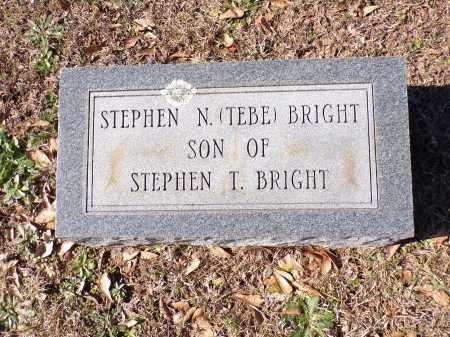 "BRIGHT, STEPHEN N ""TEBE"" - Columbia County, Arkansas | STEPHEN N ""TEBE"" BRIGHT - Arkansas Gravestone Photos"
