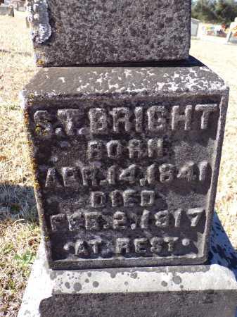 BRIGHT, S T - Columbia County, Arkansas | S T BRIGHT - Arkansas Gravestone Photos