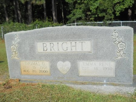 BRIGHT, THOMAS DAVID - Columbia County, Arkansas | THOMAS DAVID BRIGHT - Arkansas Gravestone Photos