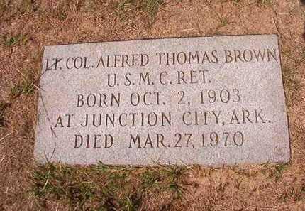 BROWN (VETERAN), ALFRED THOMAS - Columbia County, Arkansas | ALFRED THOMAS BROWN (VETERAN) - Arkansas Gravestone Photos
