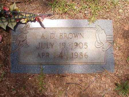 BROWN, A D - Columbia County, Arkansas   A D BROWN - Arkansas Gravestone Photos