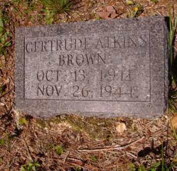 BROWN, GERTRUDE - Columbia County, Arkansas | GERTRUDE BROWN - Arkansas Gravestone Photos