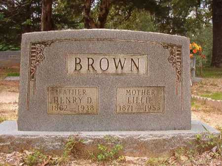 BROWN, HENRY D - Columbia County, Arkansas | HENRY D BROWN - Arkansas Gravestone Photos