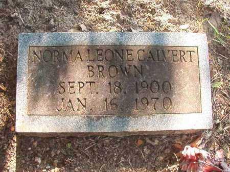 CALVERT BROWN, NORMA LEONE - Columbia County, Arkansas | NORMA LEONE CALVERT BROWN - Arkansas Gravestone Photos
