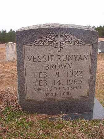 RUNYAN BROWN, VESSIE - Columbia County, Arkansas | VESSIE RUNYAN BROWN - Arkansas Gravestone Photos