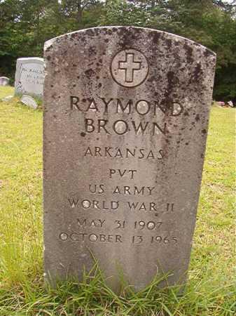 BROWN (VETERAN WWII), RAYMOND - Columbia County, Arkansas | RAYMOND BROWN (VETERAN WWII) - Arkansas Gravestone Photos