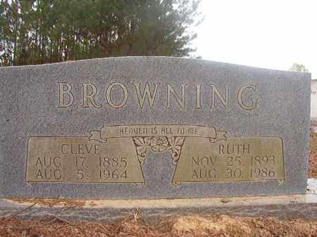 BROWNING, CLEVE - Columbia County, Arkansas | CLEVE BROWNING - Arkansas Gravestone Photos