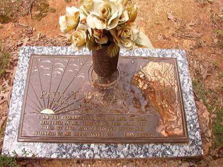 BRYANT, PAUL T - Columbia County, Arkansas | PAUL T BRYANT - Arkansas Gravestone Photos