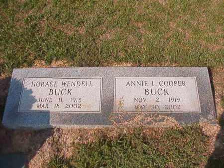 BUCK, HORACE WENDELL - Columbia County, Arkansas | HORACE WENDELL BUCK - Arkansas Gravestone Photos