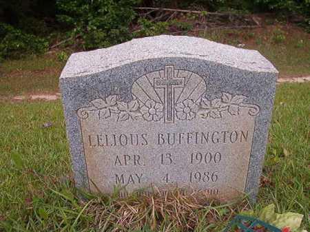 BUFFINGTON, LELIOUS - Columbia County, Arkansas   LELIOUS BUFFINGTON - Arkansas Gravestone Photos