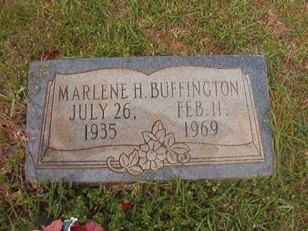 BUFFINGTON, MARLENE H - Columbia County, Arkansas   MARLENE H BUFFINGTON - Arkansas Gravestone Photos