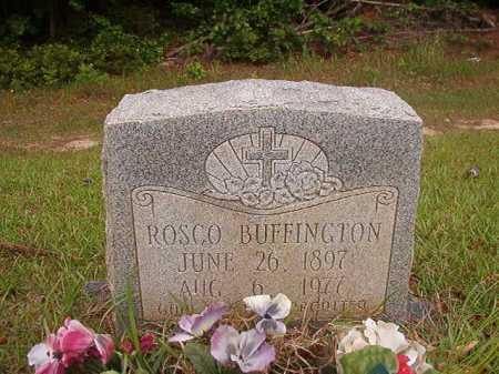 BUFFINGTON, ROSCO - Columbia County, Arkansas   ROSCO BUFFINGTON - Arkansas Gravestone Photos