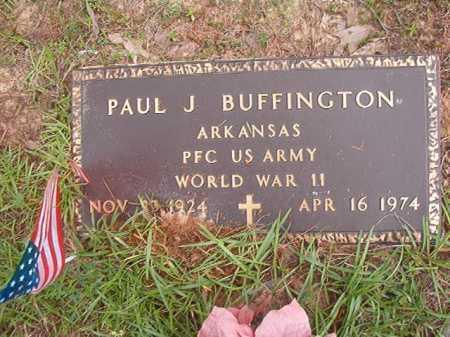 BUFFINGTON (VETERAN WWII), PAUL J - Columbia County, Arkansas   PAUL J BUFFINGTON (VETERAN WWII) - Arkansas Gravestone Photos