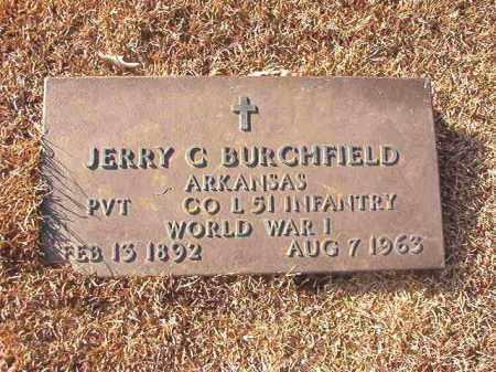 BURCHFIELD (VETERAN WWI), JERRY C - Columbia County, Arkansas | JERRY C BURCHFIELD (VETERAN WWI) - Arkansas Gravestone Photos