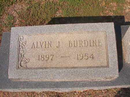 BURDINE, ALVIN J - Columbia County, Arkansas | ALVIN J BURDINE - Arkansas Gravestone Photos