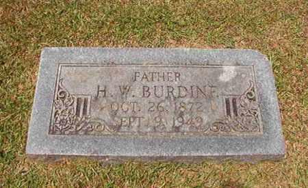 BURDINE, H W - Columbia County, Arkansas | H W BURDINE - Arkansas Gravestone Photos