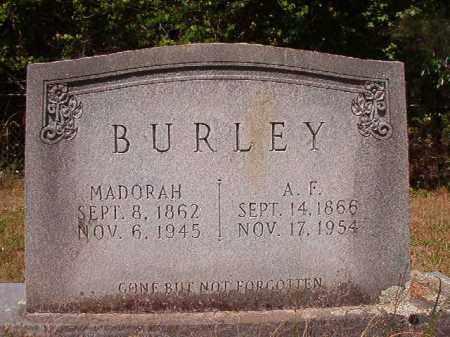 BURLEY, A F - Columbia County, Arkansas   A F BURLEY - Arkansas Gravestone Photos