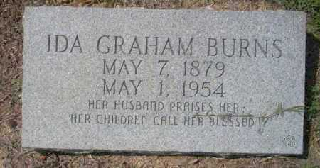 GRAHAM BURNS, IDA - Columbia County, Arkansas | IDA GRAHAM BURNS - Arkansas Gravestone Photos