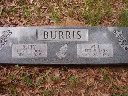 BURRIS, WILL - Columbia County, Arkansas | WILL BURRIS - Arkansas Gravestone Photos