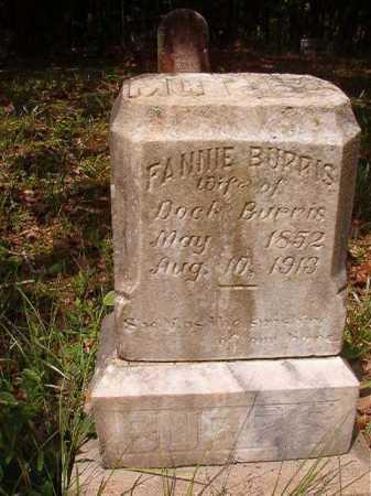 BURRIS, FANNIE - Columbia County, Arkansas   FANNIE BURRIS - Arkansas Gravestone Photos