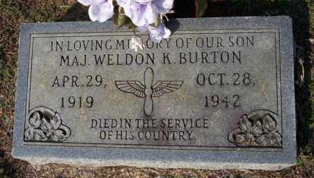BURTON  (VETERAN), WELDON K - Columbia County, Arkansas | WELDON K BURTON  (VETERAN) - Arkansas Gravestone Photos