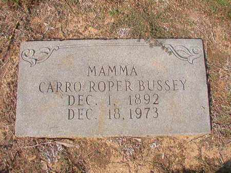 ROPER BUSSEY, CARRO - Columbia County, Arkansas | CARRO ROPER BUSSEY - Arkansas Gravestone Photos
