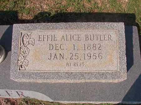 BUTLER, EFFIE ALICE - Columbia County, Arkansas   EFFIE ALICE BUTLER - Arkansas Gravestone Photos