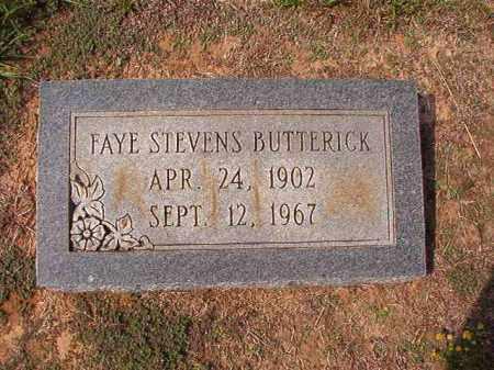 STEVENS BUTTERICK, FAYE - Columbia County, Arkansas | FAYE STEVENS BUTTERICK - Arkansas Gravestone Photos
