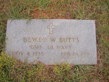 BUTTS (VETERAN), DEWEY W - Columbia County, Arkansas | DEWEY W BUTTS (VETERAN) - Arkansas Gravestone Photos