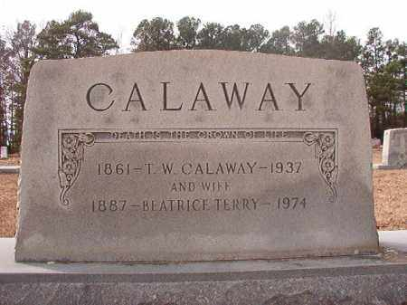 TERRY CALAWAY, BEATRICE - Columbia County, Arkansas | BEATRICE TERRY CALAWAY - Arkansas Gravestone Photos
