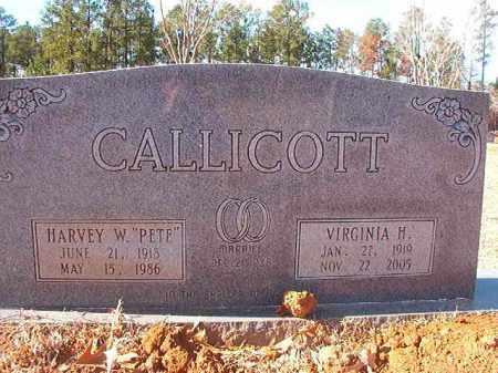 """CALLICOTT, HARVEY W """"PETE"""" - Columbia County, Arkansas   HARVEY W """"PETE"""" CALLICOTT - Arkansas Gravestone Photos"""