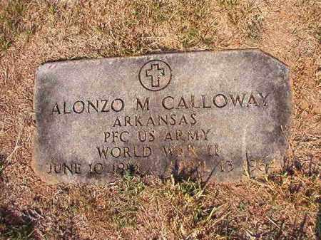 CALLOWAY (VETERAN WWII), ALONZO M - Columbia County, Arkansas | ALONZO M CALLOWAY (VETERAN WWII) - Arkansas Gravestone Photos