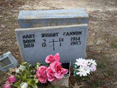 WRIGHT CANNON, MARY - Columbia County, Arkansas | MARY WRIGHT CANNON - Arkansas Gravestone Photos