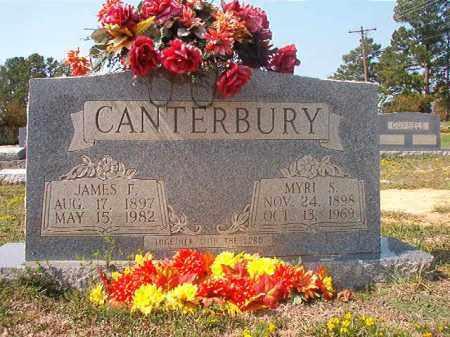 CANTERBURY, MYRL S - Columbia County, Arkansas   MYRL S CANTERBURY - Arkansas Gravestone Photos