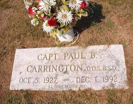 CARRINGTON, DDS BSD (VETERAN), PAUL B - Columbia County, Arkansas | PAUL B CARRINGTON, DDS BSD (VETERAN) - Arkansas Gravestone Photos