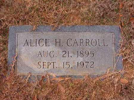 CARROLL, ALICE H - Columbia County, Arkansas | ALICE H CARROLL - Arkansas Gravestone Photos