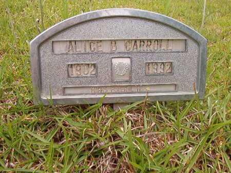 CARROLL, ALICE B - Columbia County, Arkansas | ALICE B CARROLL - Arkansas Gravestone Photos