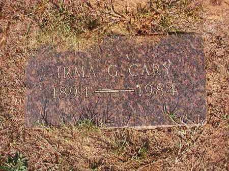 CARY, IRMA G - Columbia County, Arkansas   IRMA G CARY - Arkansas Gravestone Photos