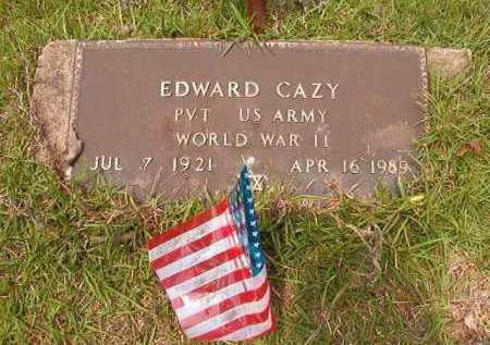 CAZY (VETERAN WWII), EDWARD - Columbia County, Arkansas | EDWARD CAZY (VETERAN WWII) - Arkansas Gravestone Photos
