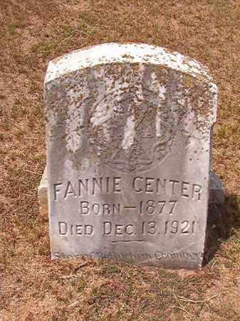 CENTER, FANNIE - Columbia County, Arkansas   FANNIE CENTER - Arkansas Gravestone Photos